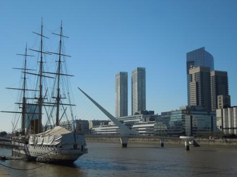 The Puente de la Mujer in Puerto Madero, Buenos Aires