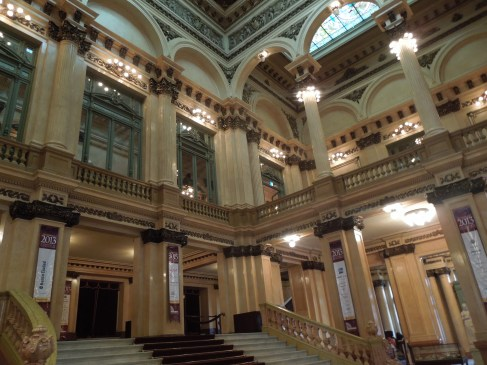 The grand steps of the Teatro Colón, Buenos Aires