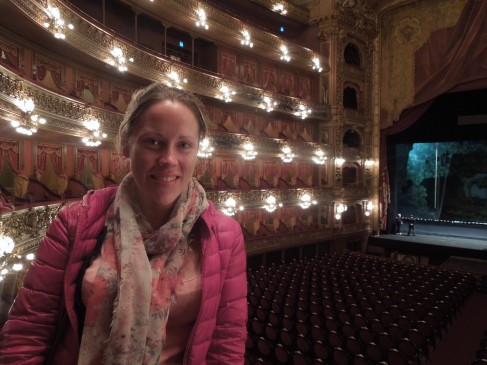 The auditorium of the Teatro Colón in Buenos Aires, Argentina