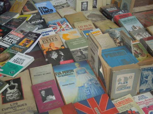 Books in a bookshop in Buenos Aires, Argentina